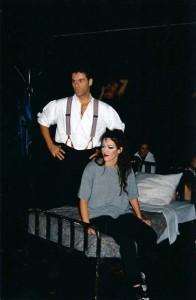 Rein Kolpa en Hilde Norga tijdens de repetities